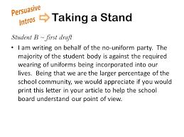 no school uniforms essay re congress party
