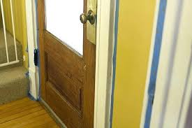 painting stained wood trim and doors stained doors with white trim painting trim in the front