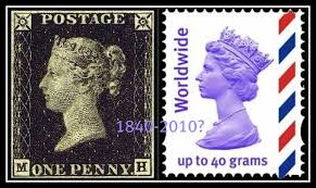 Image result for The first postal stamp released: Britain/ 1840
