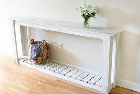 diy farmhouse style sofa table