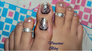 Toes nail art simple design - how you can do it at home. Pictures ...