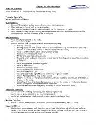Cna Job Description For Resume Coles Thecolossus Co Inside Duties