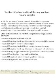 Occupational Therapy Resume Template resume Occupational Therapy Resume 25