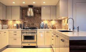 Glossy Kitchen With Under Cabinets Lighting Under Cabinet Lighting With Kitchen  Cabinet Lighting Idea