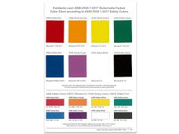 color chart color chart according to ansi z535 1 2017 safety colors