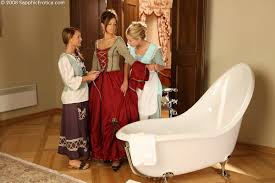 Three chambermaids undress and lick wet twats in wild orgy Click.