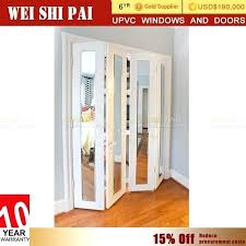 white glass bifold doors excellent soundproof white bi fold door custom made exterior and interior glass