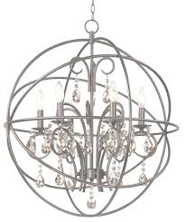 nickel orb chandelier collection of sphere chandelier brushed nickel crystal orb chandelier