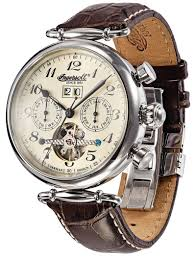 ingersoll in1312cr walldorf cream dial stainless automatic watch ingersoll mens automatic watch in1312cr walldorf cream dial stainless steel