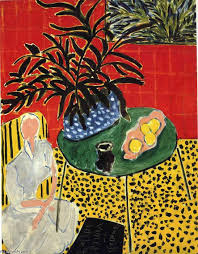 famous painting interior with black fern of henri matisse