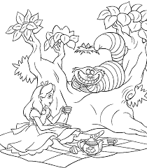 Printable Coloring Pages Alice In Wonderland 71 For Free Online