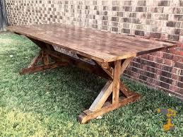 farmhouse trestle table plans