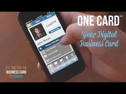 Digital Business Card One Card Your Digital Business Card Youtube