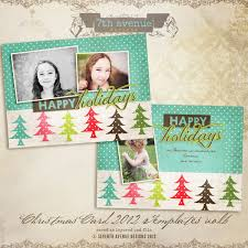 Christmas Card Templates Psd With 2012 Vol 6 5 X 7 Inch Template 7th