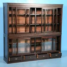 antique bookcase cabinet display cabinets with glass doors or sliding an