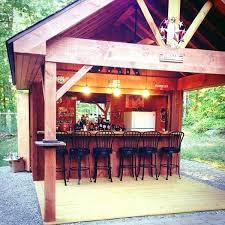 backyard bar plans pub backyard tiki bar diy