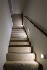 readybright wireless power outage stair light installed on wall looking down stairs application lamps staircase