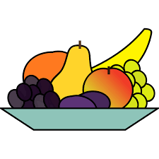 Vector graphics of plate of fruits drawing   Free SVG