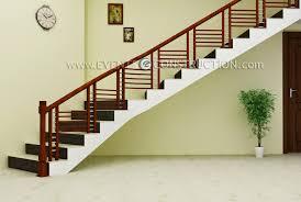 evens construction pvt ltd simple wooden staircase design