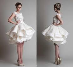 Ivory A Line Chiffon Wedding Dresses Krikor Jabotian Bateau Cap