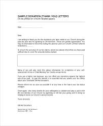 thank you letter to donors sample thank you letter for donation 8 examples in word pdf