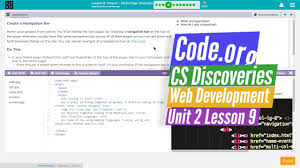 Multi-Page Websites Lesson 9.4 Tutorial with Answers - Code.org Web ...