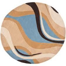 safavieh modern art bluebrown  ft x  ft round area rug