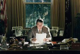 reagan oval office. for two years during the ford presidency my father served as cochair of republican national committee in 1976 however with ronald reagan pursuing oval office