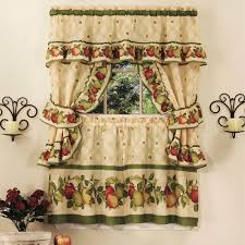 Red Apple Kitchen Decor Attractive Brown Jcpenney Kitchen Curtain Made Of Cotton Colorful