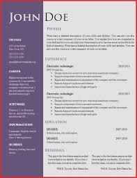 Sample Resume Templates Word Best Of Free Creative Resume Cv ...