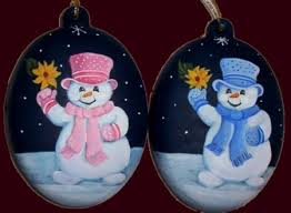 Hand Decorated Christmas Balls Hand Painted Custom Order Christmas Ornaments Can Be Personalised 20