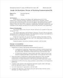 Marketing Officer Job Description Enchanting 48 Marketing Job Descriptions Free Sample Example Format Free