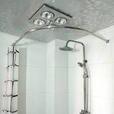 bathtub shower curtain rodcopper thickening stainless steel l shower curtain rod curved hole saw corner shower