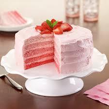 Strawberry Ombre Cake Recipe Land Olakes
