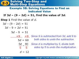holt algebra 1 2 3 solving two step and multi step equations if
