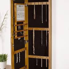oak wood wall mounte jewelry armoire