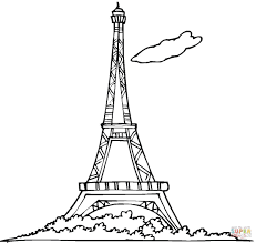 Eiffel Tower Coloring Page From France