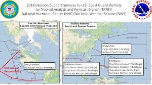 Atlantic Basin Hurricane Tracking Chart National Hurricane Center Miami Florida Inside The Eye