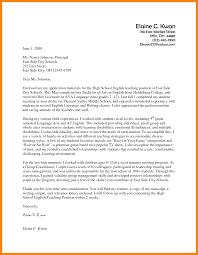 Cover Letter English Teacher Application Proyectoportal Com