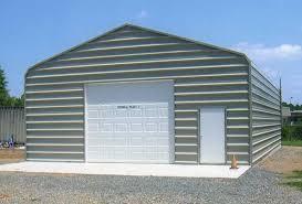 30 x 40 enclosure with 10 x 10 garage door and walk door