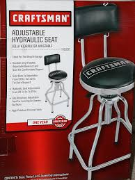 Craftsman Stool And Table Set Amazoncom Craftsman Adjustable Hydraulic Seat Stool Black Home