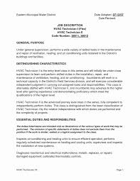 Entry Level Hvac Technician Resume Samples Unique Sample Resume For