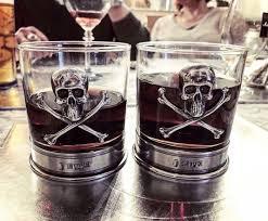 skull glass tumbler