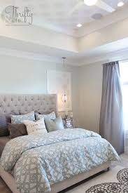Small Picture Soothing paint colors of blue and grey for this master bedroom