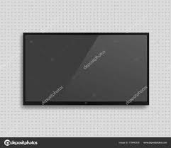Light Shadow Lcd Vector Realistic Tv Screen With Shadow Stock Vector