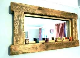 wood framed mirrors distressed white mirror frame floor reclaimed rusti