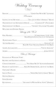wedding party program templates what are the key components of a catholic wedding ceremony