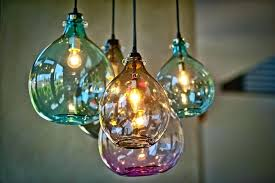 colored glass pendant lights new light image of colorful mini with regard to 1