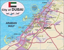 map of dubai (united arab emirates uae)  map in the atlas of the