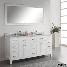 Virtu USA Caroline Parkway 72 Double Bathroom Vanity Set in White ...